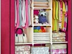 Fabric Storage Wardrobe/Almirah/Cloth Stand 3 part
