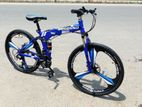 Begasso 3 Knives Blue Color Folding Bicycle