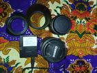canon 600d white 55-250 stm zoom lens &18-55 kit