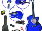 Standard Acoustic Guitar w/ Gig Bag, cabel, Instructional leson, Strap