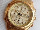 Seiko Chronograph Gold Tone Quartz Watch