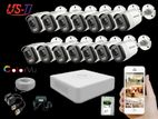 24 Hours Colour Hikvision 14pc camera Package