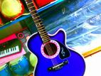 New Acoustic+output system Blue Guitar(গিটার)