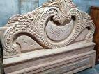 (চোখ খাট) চিটাগাং সেগুন কাঠের তৈরি সেমি বক্স খাট- ৬/৭ ফিট।
