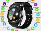 V8 Sim support smart watch Android black
