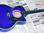 (Code: MU24) best sky blue color acoustic guitar