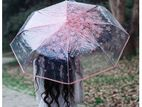 Transparent Umbrella, Sakura 3 Fold Rain Umbrella for Weddings