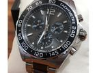 New Black Dial Two Tone Band Ceramic & Brushed St. steel Men's Watch.