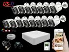 24 Hours Colour Hikvision 15pc camera Package