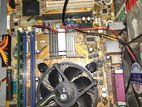 G41 Intel Motherboard, 2 Gb- DDR 3 Ram, Core dou prossecor