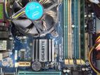 Gigabyte Motherboard G41m With Processor And Ram Full Set Sale