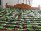 wooden double bed + jajim