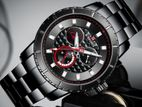 Naviforce Chronograph Black Dial Band St. Steel Men's Watch.