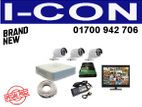 "CC Camera 3 Pcs HIKVISION HD & 19"" Philips Full Package"