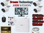 2MP 4 Hikvision Full HD CCtv Pakage with monitor Special Offer