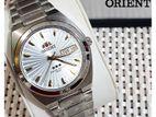 Orient Brand Three star Auto. Silver Dial St. Steel Band Men's Watch