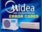 1.0 Ton Split Type AC & Air-Conditioner Midea 12000 BTU Brand New
