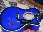 (Code:SVR54) Acoustic Guitar vintage blue