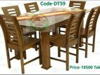 Dinning Table +6 Chair, Code : DT59(10ml Glass Added)