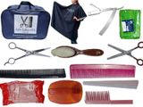 Hair Cutting Scissor, Apron, Razor Salon Tools Package Premium