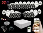 24 Hours Colour Hikvision 13pc camera Package