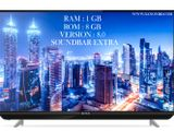 """32"""" SG GLASS RAM 1GB SLIM VERSION ANDROID INTACT 4K SERIES LED TV"""