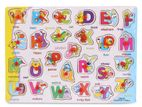 ENGLISH, ABCD Wooden Alphabet Puzzle Board for 1-3 Years Old