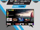 """জুম্মাহ মুবারক JVCO 32"""" FRAMELESS 1 GB RAM 4K স্মার্ট এন্ড্রয়েড LED TV"""