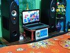 Laptop & speaker