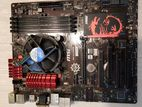 MSI b85 Gaming motherboard i3 4gb