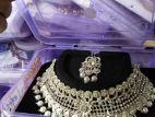 white stone necklace jewellery