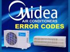 Air Conditioner 1.5 TON Midea From China INTACT BOX