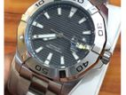 Luxurious Aquaracer Automatic Black Dial Silver Band S/S Men's Watch.