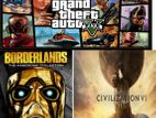 Grand theft auto V,civilization , Borderlands collection