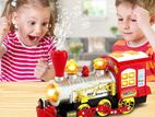 Blowing Plastic Bubble Train With Lights Sounds For Kids