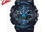 New G-Shock Dual Time Multi color Dial Black Band Watch Men's watch.