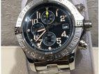 Luxurious Super Avenger Black Dial Stainless steel Men's Watch.