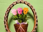 Rattan Handcrafted Hanging Flower Vase for Dining, Living & Bed Room
