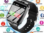 Black DZ09 Smartwatch-Sim Card,Camera Memorey Card Surpoted.