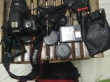 Canon EOS 750D WITH BOYA Microphone and Camera Hand Gripe