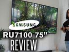 SAMSUNG ১০০% অরজিনাল প্রোডাক্টের গ্যারান্টি আমাদের 75-Inch RU7100 TV