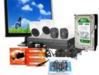 "CCTV Package 4CH DVR 4PCS Camera 500GB HDD 17"" Monitor"