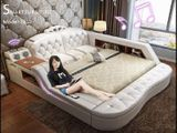 Smart Leather Design Bed Model -7010