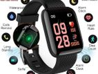 Heart Rate Blood Pressure Oxygen Monitoring - Black SmartWatch.