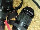 Canon 1200D with 18-55 lens and 55-250