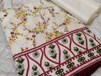 Fabolous pure cotton embroidered Dress for falgun and Valentine