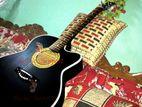 fully black color super sound quality new guitar