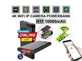 Spy Camera H11 PowerbanK 4K Live Wifi IP Cam Video with Voice Recorder