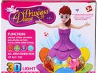 Battery operated PRINCESS DANCE Doll with Music and 3D Lights for Kids