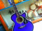 নীল কালার গিটার সাথে guitar bag+pick free